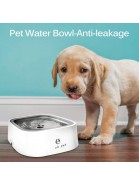 YOUTHINK Pet Bowl Automatic Water Fountain for Dogs Cats Small Dog, 2-in-1 Waterer Feeder with Floating Dispenser, White