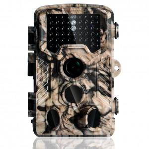 Hunting Game Camera Wildlife Surveillance Trail Cameras, 16MP 1080P with 65ft Infrared Night Vision, 0.2s Motion Activated, 46pcs No Glow IR LEDs, IP56 Waterproof,120°PIR Sensors,2.4'' LCD Screen,Camo