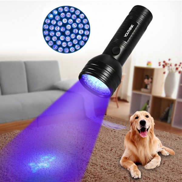 YIBIDINAY Black Light UV Flashlights AMZ-0002 Model Blacklight Pets Urine and Stains Detector Zoomable Ultraviolet Flashlight 395 nm LED Ultraviolet Blacklights for Dog/&Cat Urine Bed Bug